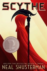 Cover of Neal Shusterman's book Scythe