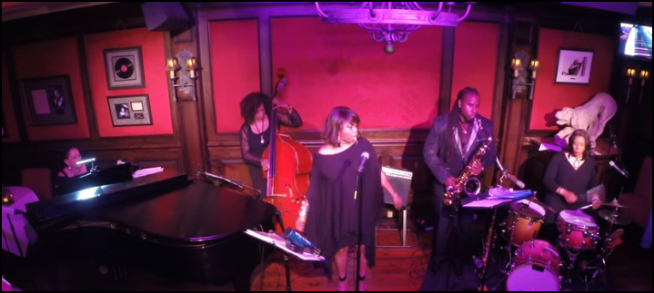 image of a jazz quintet
